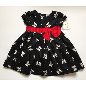 Carter's Baby 6 Month Dress-Me-Up Bow Print Dress